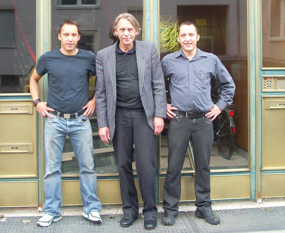 Wolfgang Höpfner und seine Söhne Tomas und Sandor