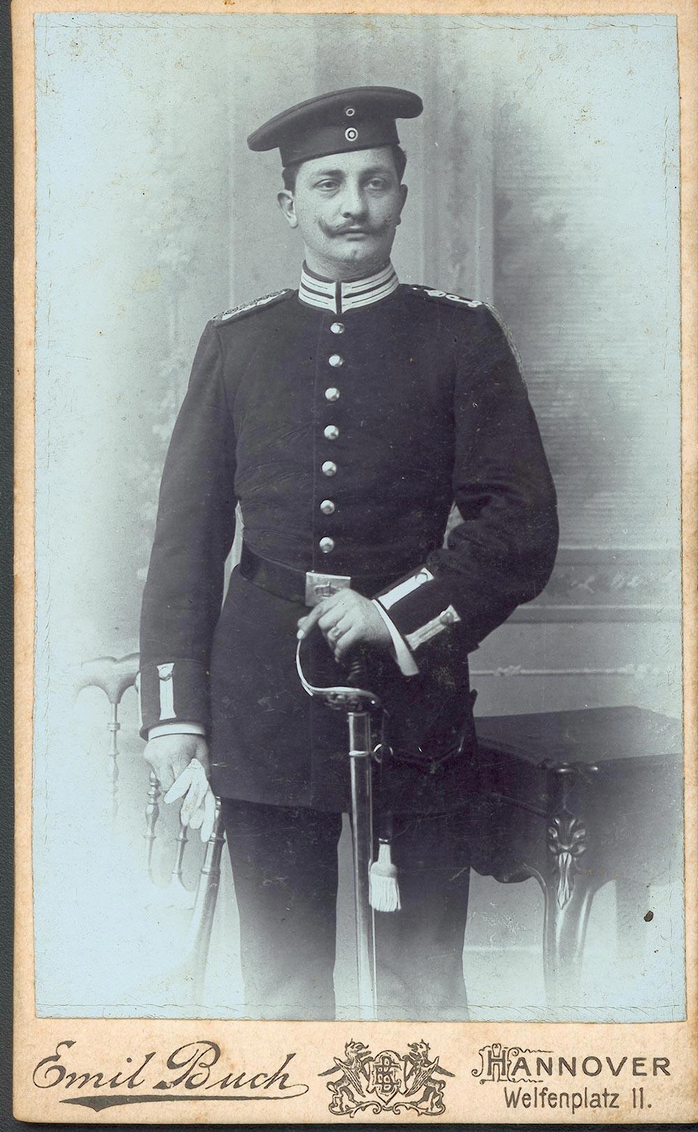 Max Hoepfner als Soldat